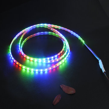 45 90 135CM 1210 RGB LED Strip Light Car Daytime Running Light DC12V Waterproof