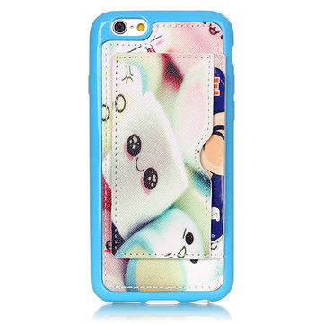 Fashion Pattern Bunny Creative Back Holder Protector Case For iPhone 6 6s