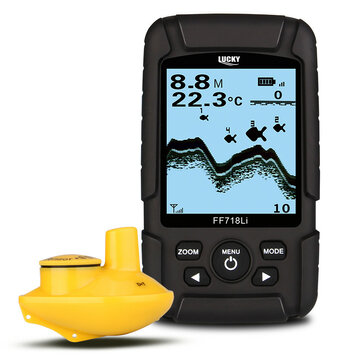 Lucky FF718Li-W Waterproof Single Wireless Fish Finder Boat Beach Sea Fish Sonar
