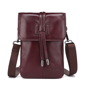 Women Genuine Leather Phone Bag Leather Crossbody Bag