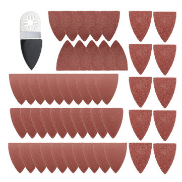 51pcs Finger Sanding Sheets Pads Paper Set For Fein Multimaster Bosch Oscillating Multitool