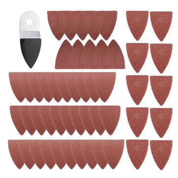 51pcs Finger Sanding Sheets Pads Paper Set For Fein Multimaster Bosch Oscillating Multitool