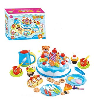 80PCS/Set Cutting Cake Food Toys Kid Kitchen Pretend Play Toy Birthday Gift
