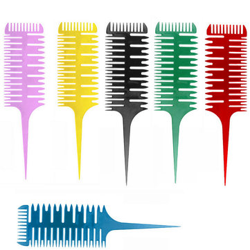 Hair Dyeing Sectioning Highlighting Comb Pointed Tail Brush Salon Barber Hairdressing Styling Tools