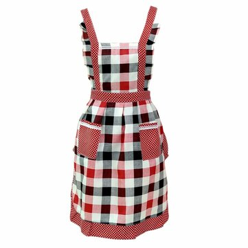 Honana Women Lady Kitchen Apron Dress Restaurant Home Kitchen For Pocket Cooking Funny Cotton Apron Bib Dining Room Barbecue