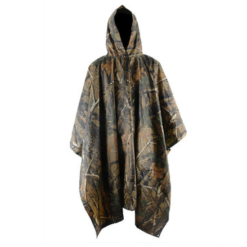 Outdooors Camping Camouflage Rain Coat Waterproof Jungle Poncho For Hunting