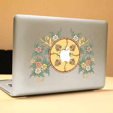 PAG Flower Disk Decorative Laptop Decal Removable Bubble Free Self-adhesive Skin Sticker