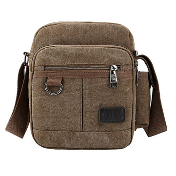 Men Canvas Shoulder Crossbody Bag Outdoor Sport Shoulder Messenger