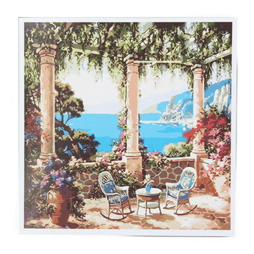 Frameless Venice Sea Painting by Numbers Wall Decor DIY Canvas Oil Painting Home Decorations
