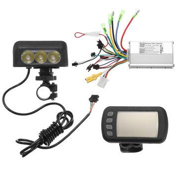 24V36V48V250W350W Motor Fırçasız Kontrolör Lcd Ekran E-bike Bisiklet MTB Model A için Ön Işık