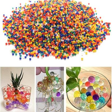 Buy 10000PCS/Bag Pearl Shaped Crystal Soil Magic Growing Jelly Balls Hydrogel Gel Polymer Water Beads for Plant Flower Home Decor Kids Toy Gun Bullets Vase Fillers for $1.59 in Banggood store