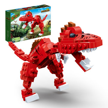 BanBao Spinosaurus Jurassic Dinosaur World Park Animal Blocks Toys Educational Building Bricks Toys
