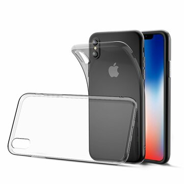 Bakeey Clear Transparent Soft TPU Protective Case For iPhone XS/X