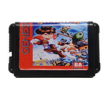 Gunstar Heroes 16 Bit MD Game Card Cartridge for Sega MegaDrive Genesis System PAL NTSC Available