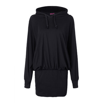 Women Plus Size Casual Hooded Batwing Sweatshirt