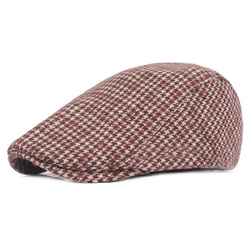 Men Women Winter Blending Beret Caps Newsboy Hunting Hat