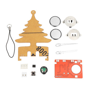 3pcs DIY Electronic Music Flash Tree Kit Battery Power LED Flashes Creative Tree Soldering Practice Board