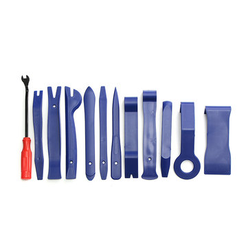 12Pcs Blue Auto Car Audio Door Dash Tirm Panel Install Removal Pry Tools Bag
