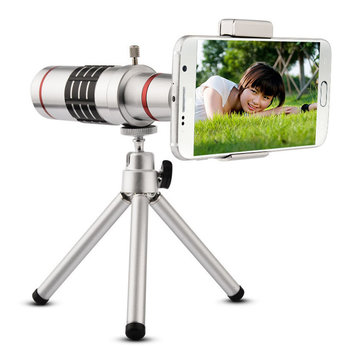 Universale zoom 18x Phone Telescope Camera Lens Teleobiettivo + Tripod iPhone Android