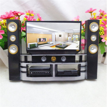 Hi Fi TV Cabinet Set Combo For Barbie Doll House Furniture Living Room  Dollhouse Decoration