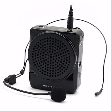 Aker MR1505 Portable 10W Loud Voice Booster Microphone Amplifier Speaker