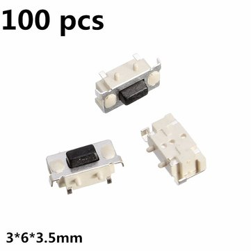 100Pcs Tact Tactile Push Button Switch SMD SurfacE-mount Momentary