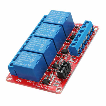 3Pcs DC12V 4 Channel Level Trigger Optocoupler Relay Module Power Supply Module For Arduino