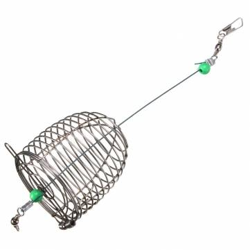 ZANLURE 10g Stainless Steel Wire Fishing Bait Lure Cage Fishing Trap Basket Feeder Holder