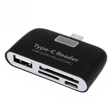 Bakeey 4 in 1 Type-c USB 3.1 USB 2.0 Memory Card U Flash Disk TF OTG Card Reader for Mobile Phone