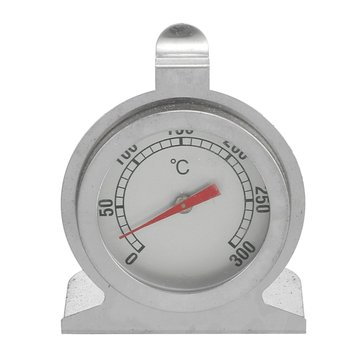 Stainless Steel Stove Thermometer Barbecue Fireplace Back Brat Pizza Grill Oven Temperature Gauge 300°C For Baking