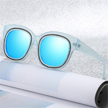 Women Outdoor Causal Big Black Square Sun Glasses