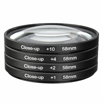 58mm Macro Close Up Filter Lens Kit +1 +2 +4 +10 for Canon EOS 700D 650D 600D 550D 500D 1200D 1100D 100D Rebel T5i T4i Lens