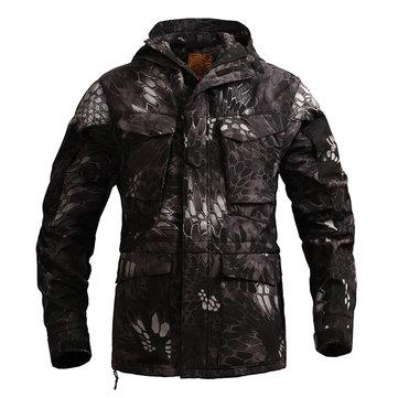 Mens Outdoor Jacket Military Tactical Training Fleece Waterproof Windproof Utility Jacket