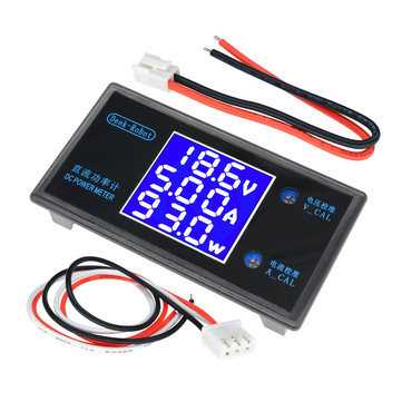 DC 12V 5A 250W LCD Display Digital Voltmeter Ammeter Wattmeter Voltage Current Power Meter Detector Tester Monitor 0-50V