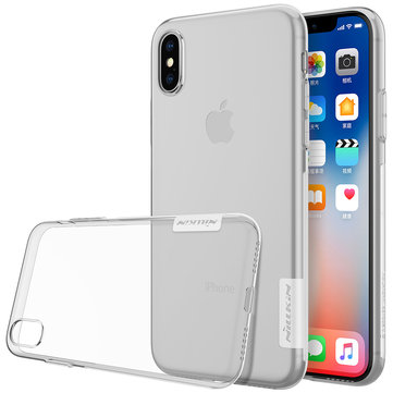 NILLKIN Soft TPU Transparent Ultra Thin Shockproof Case for iPhone X