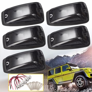 5pcs Smoked Lens Plastic Cab Roof Marker Running Lamps Cover Car Top Light Shell