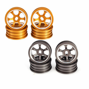 1/28 Upgraded Metal Rims 4PCS For WLtoys K979 K989 Rally Buggy Off Road RC Cars