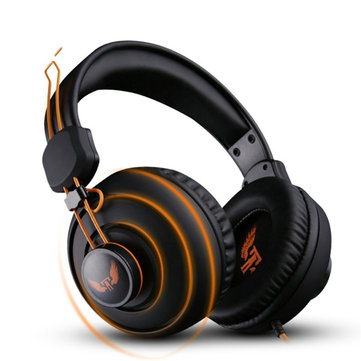 OVANN X7 3.5mm Plug Over-ear Stereo Deep BassGaming Headphone Headset With Mic