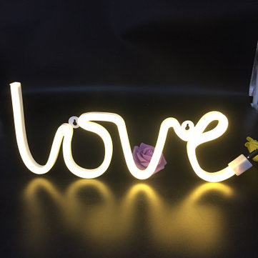 LED LOVE Letters Shape Wall Hanging Night Lights Table Lamp For Festival Wedding Party Decorations Decorative Wall Hanging Night Light Hot Selling Decorations Lamp