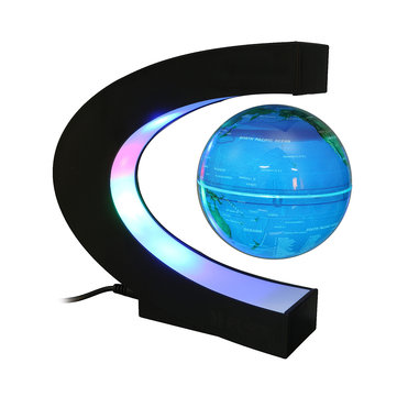 LED Floating C Shape Magnetic Levitation Floating Globe World Map