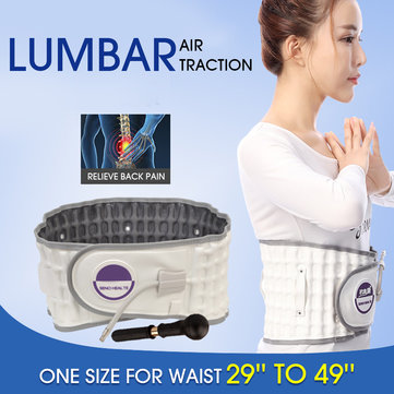 Physio Relief Belt Air Pump Traction Decompression Lumbar Spinal Back Support
