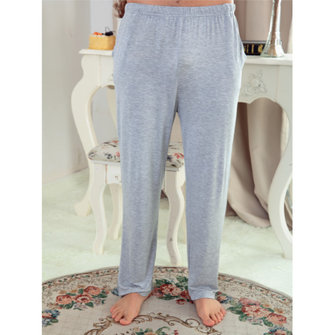 Men Sleep Loose Pants Solid Breathable Casual Yoga Pajamas Home Dress Pants