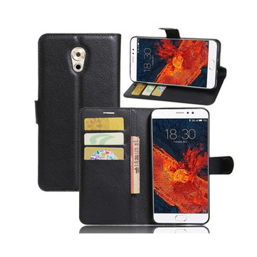 Litchi Flip Wallet Card Slots Bracket PU Leather Phone Case For Meizu Pro 6 Plus Global Version