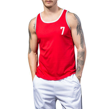 Mens Breathable Sweat Sleeveless Vest Summer Fitness Running Sports Tank Top