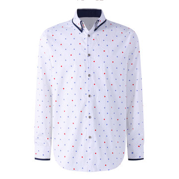 Mens Fashion Printing Business Casual Designer Shirts