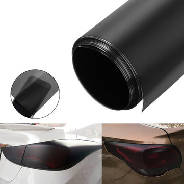 30x100cm Matte Black Car DIY Tint Film Stickers PVC Decal Wrap for Headlight Fog Light Tail Lamp