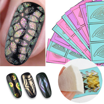 20Pcs Mix Color Hollow Nail Sticker