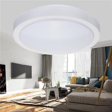 12W 1000LM Modern Round LED Ceiling Light Flush Mount Lamp for Bedroom Kitchen Bathroom AC110-240V
