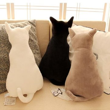 KCASA Super Cute Pillow Soft Plush Cat Back Sofa Pillow Cushion Plush Toys Stuffed Creative Retro Cat Sofa Pillow Alice Back Cats Big Pillow Cats Dolls Plush Toys Cushions Dolls Gifts Dolls Toys