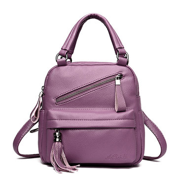 Women Casual Handbag Solid Soft Faux Leather Crossbody Bag
